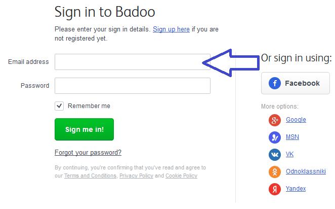 Com sign badoo up www Badoo Login