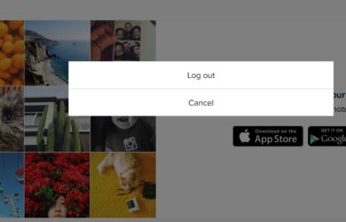 instagram signout page/button