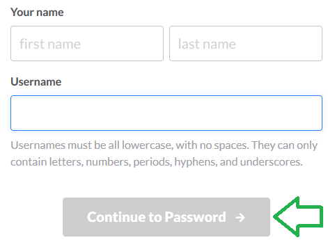 slack continue to password button img