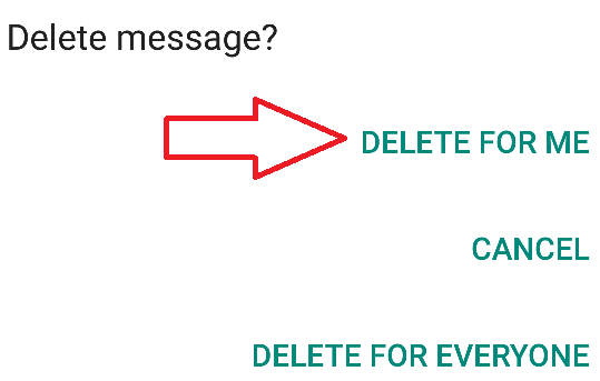 whatsapp delete for me link image